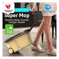 Sunxin Super Mop / Spin Mop / Pel Lantai Dengan Ember free Refill