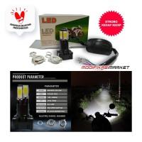 LAMPU LED MOTOR 6 TITIK 6 SISI 6 MATA HI/LO STROBO AC/DC ADAPTOR