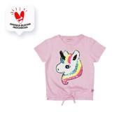 Tshirt / Kaos Anak Perempuan / Rodeo Junior Girl Rainbow Horse