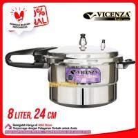 Vicenza Pressure Cooker 8 Liter - Panci Presto