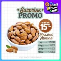Almond Panggang Original (Roasted Almond Plain) 500 gr