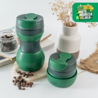 UCHII Collapsible Travel Silicone Tumbler Botol Air Lipat - Army Green