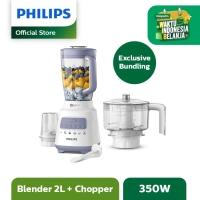 Philips Blender Plastic 2L HR2221/00 + Chopper HR3210/55