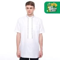 Salt n Pepper Baju Muslim Koko Lengan Pendek 034 White