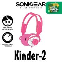 Headset Headphone Sonicgear Kinder 2 Kids Child Sound Safe Wired Pink