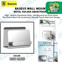 BASEUS WALL MOUNT METAL HOLDER SMARTPHONE GANTUNGAN HP DI DINDING