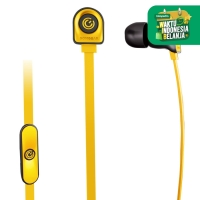NeoPlug Leaf Earset with Built-In Microphone By SonicGear B.orange