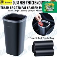 Baseus Dust Free Car Trash Can Tong Tempat Sampah Mini Mobil / Desktop