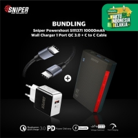 BUNDLING POWERSHOOT S111371 & Wall Charger 1 QC3.0 + C to C Cable