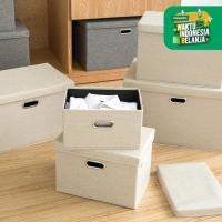 UCHII HAKO Foldable Multi Purpose Storage Cotton Linen Kotak Serbaguna