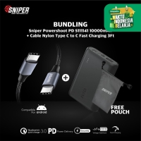 POWER BANK SNIPER POWERSHOOT PD S111141 - 10050MAH + C TO C CABLE