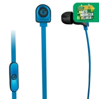 NeoPlug Leaf Earset with Built-In Microphone By SonicGear B.blue