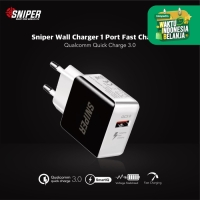 Sniper Wall Charger 1 Port Fast Charging Quick Charge 3.0 -Black