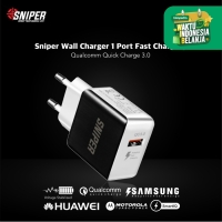 Sniper Wall Charger 1 Port Fast Charging Quick Charge 3.0 -White