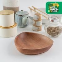 UCHII Natural Cherry Wood Mini Triangle Plate - Piring Makan Saji Kayu