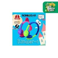 Headshet Headphone Sonicgear Headset Kinder 1 Child Sound Safe Pink