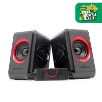 Quatro 2 Super Loud (2.0 USB Speaker) By SonicGear (Red)