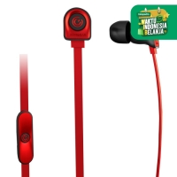 NeoPlug Leaf Earset with Built-In Microphone By SonicGear B.red