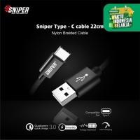 Sniper Cable Nylon Braided Type-C (22cm)