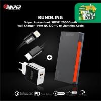 BUNDLING POWERSHOOT S111571 & Wall Charger 1 QC3.0 + C to Lightning