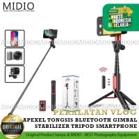 APEXEL Tongsis bluetooth Gimbal Stabilizer Tripod Smartphone