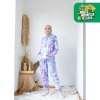 Mybamus Echan Tie Dye Hoodie Jogger Set Ash Blue M15817 R28S6