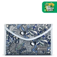 Sakroots Flap Cosmetic Pouch Blue Steel SD [WH Sale]
