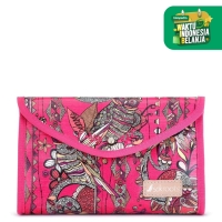 Sakroots Flap Cosmetic Pouch Fuchsia SD