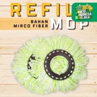 Refill Super Mop Ganti Isi Ulang Kain Alat Pel Putar Bahan Microfiber