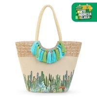 Sakroots Lola Beach Bag Natural Mojave Mirage