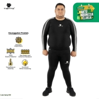 Tiento Baselayer Manset Legging Sport Retro Race 1 Stel Men Jumbo