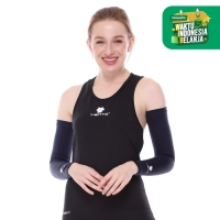 Tiento Hand Sock Manset Tangan Baselayer Hand Sleeve Navy Women