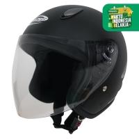 Helm Half Face YCN CR Cargloss Visor Hardcoat - Black Doff