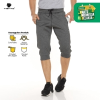 Tiento Celana Jogger Selutut Half Pants Joger Sporty Dark Grey Men