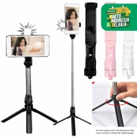 CM-A5 Tongsis 3 In 1 HP Berdiri Duduk Selfie Stick Tripod Holder Remot