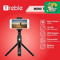 TREBLE JS Bluetooth Selfie Stick Portabel/ Tongsis/ Tripod - TS01