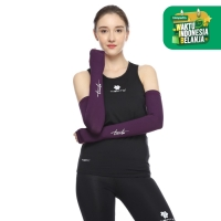 Tiento Hand Sleeve Thumbhole Arm Manset Tangan Purple Women