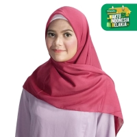 Zoya Kerudung Segi Empat Polos - Maruna Plain Scarf Warna Grape Purple