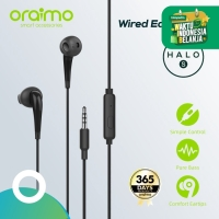 Oraimo Headset / Earphone / Handsfree with Mic 3.5mm IOS/Android E21N - Hitam