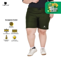 Tiento Short Running Pants Zipper Army Celana Pendek Women Jumbo