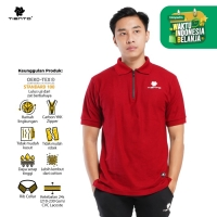 Tiento Polo Shirt True Basic HDC Red Baju Kaos Kerah Lengan Pendek