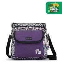 Sakroots Flap Crossbody Bag Violet OW