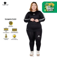 Tiento Baselayer Manset Legging Sport Retro Race 1 Stel Women Jumbo