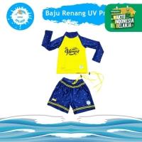 Baju Renang Anak Laki Perempuan Celana Rok UV Protection KIDDIE SPLASH - Yellow Prince, XS