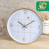 UCHII Exclusive Wall Clock Silent Movement Gold   Jam Dinding Analog