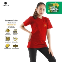 Tiento Kaos T-Shirt Chinese Touch Red Gold Limited Edition Women