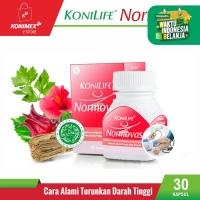 Konilife Normovas Food Supplement Botol 30 kapsul Alami Turunkan Darah