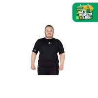 Tiento Baju Compression Tiento Short Sleeve Black white Men Jumbo