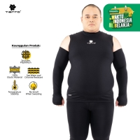 Tiento Hand Sleeve Thumbhole Arm Manset Tangan Black Men Jumbo