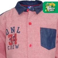 Shirt / Kemeja Anak Laki-laki Red / Merah Donald Crew